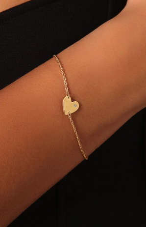 Jennifer Zeuner Jewelry heart bracelet
