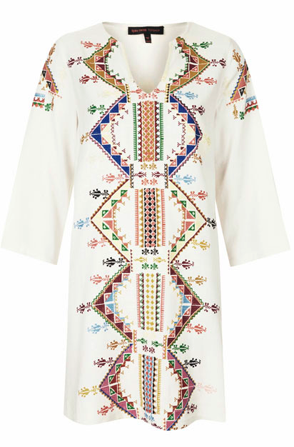 Kate Moss embroidered dress
