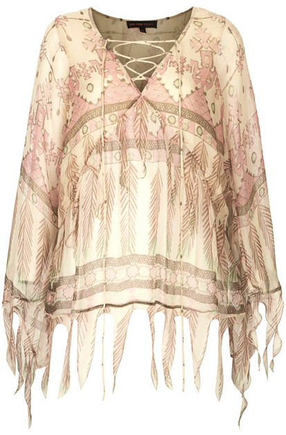 Kate Moss tassel blouse