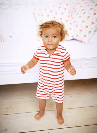 Mini Boden polo romper