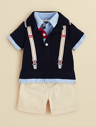 Miniclassix shirt and shorts set