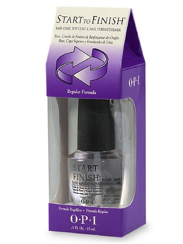 OPI base coat, top coat and strengthener