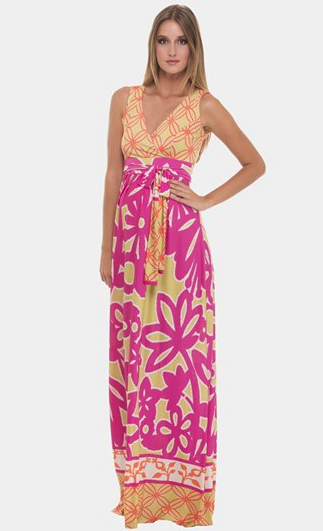 Olian maternity maxi dress