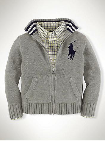 Ralph Lauren zip front cardigan