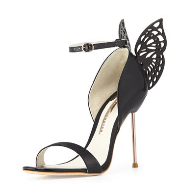 Sophia Webster black butterfly sandals