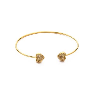 Taj open heart bracelet