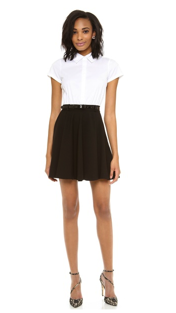 alice + olivia combo shirtdress