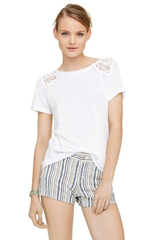 Club Monaco lace back top