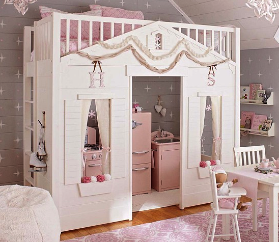 Pottery Barn Kids cottage loft bed
