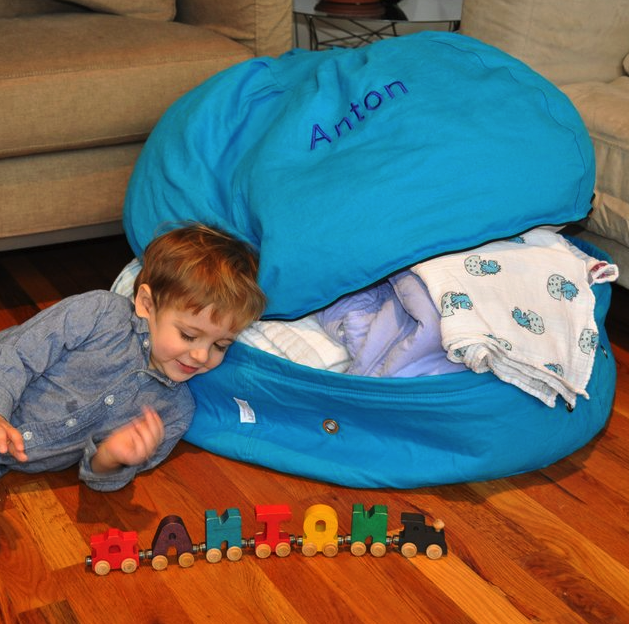 Storage beanbag (perfect for storing old clothes - multi-tasking furniture!)