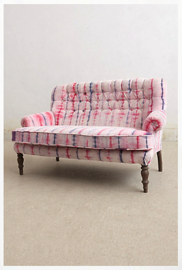 Anthropologie velvet settee