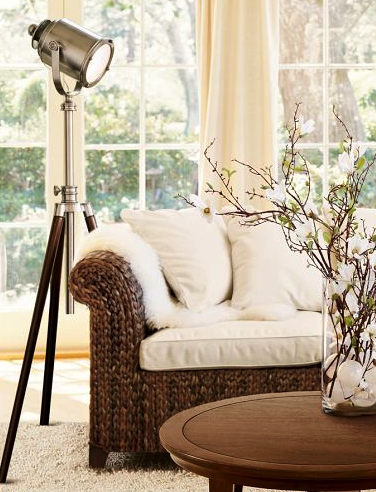 Pottery Barn tripod/photog lamp