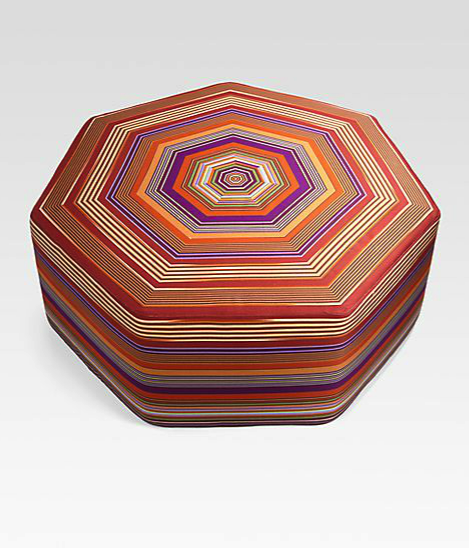 Missoni floor pouf