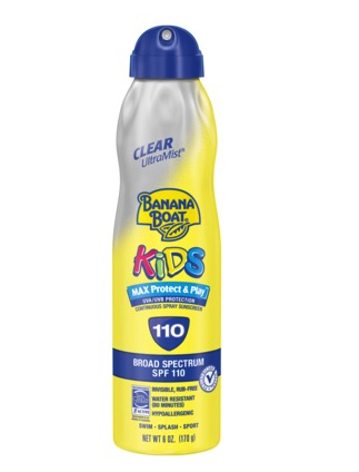 Banana Boat Kids sunscreen mist