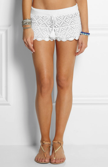 Tory Burch crochet shorts