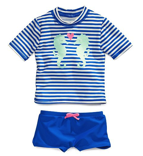 Carter's rashguard and swim shorts set