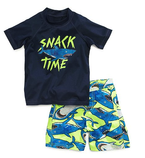 Osh Kosh rashguard and shorts