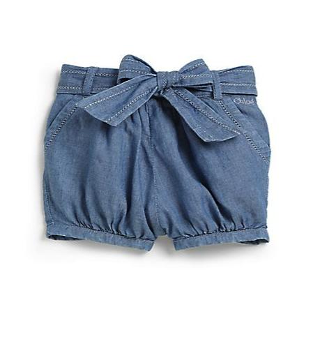 Chloe chambray bubble shorts