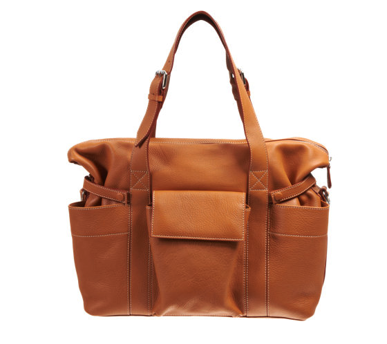 Barneys leather diaper bag