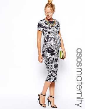 Asos maternity dress with necklace