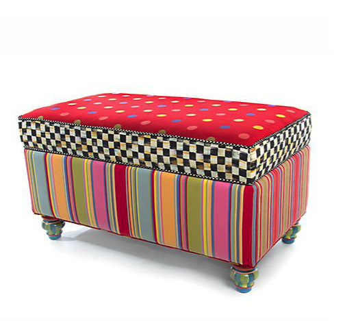 MacKenzie Childs storage bench