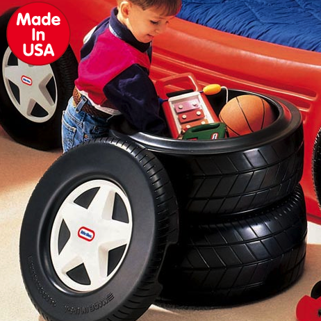 Little Tikes tire toy box
