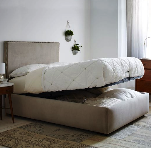 West Elm storage bed