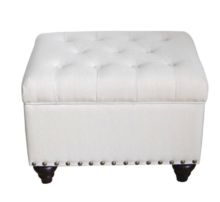 Threshold storage ottoman