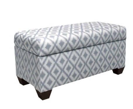 custom upholstered storage bench