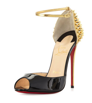 Christian Louboutin mixed media shoes