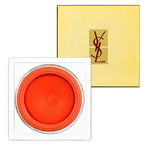YSL creme de blush in audacious orange