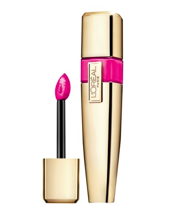 L'Oreal lip lacquer in pink rebellion