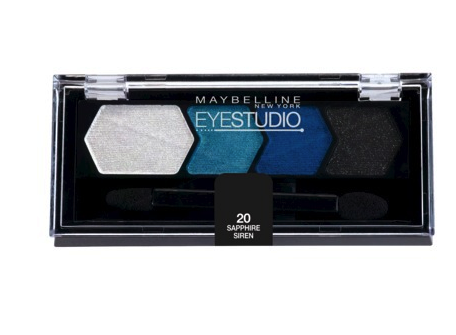 Maybelline eye  shadow quad in sapphire siren