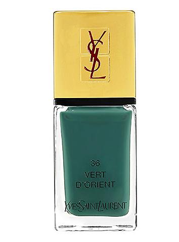 YSL nail polish in 36 vert d'orient