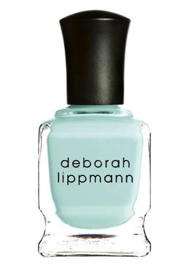 Deborah Lippman nail polish in flowers in her hair