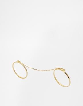 Orelia double ring set
