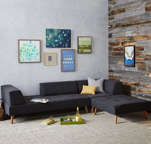 West Elm sectional sofa