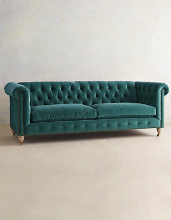 Lyre chesterfield sofa (comes in an array of colors)