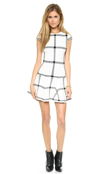 Alice + Olivia dress fit and flare dresses