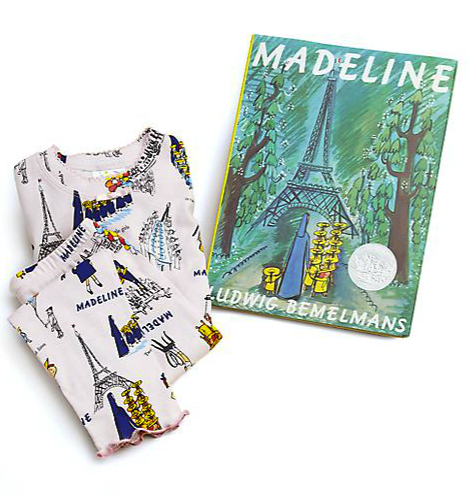 Books to Bed Madeline pajamas and book