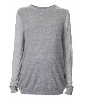 Topshop sheer sleeve maternity sweater