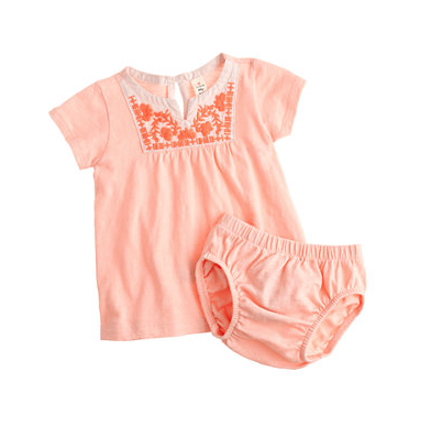 J Crew tee and bloomers set