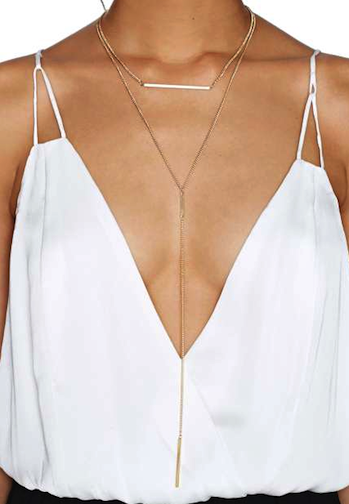 Bruna double layered necklace
