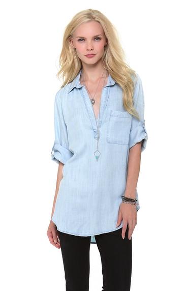 Bella Dahl chambray shirt