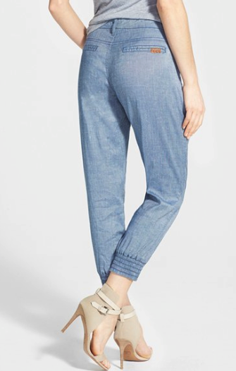 7 For All Mankind chambray track pants