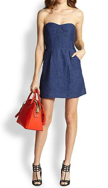 Milly strapless dress