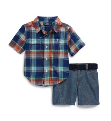 Ralph Lauren shirt and shorts set
