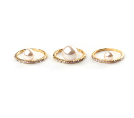 Rue Gembon rings (set of 3)