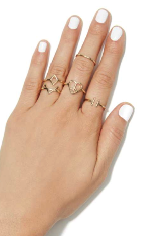 Pieces of the puzzle ring set (set of 5) ring bling