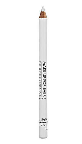 Make Up Forever kohl pencil in matte white 2K